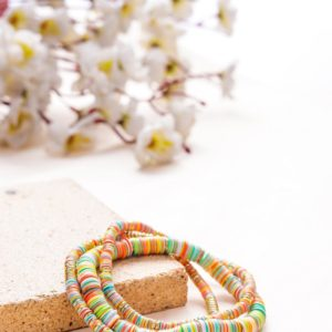 Small and Large Golden and Yellow Sequence Bracelets
