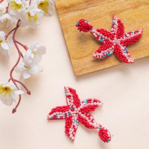 Red Beads and Pearl Starfish E