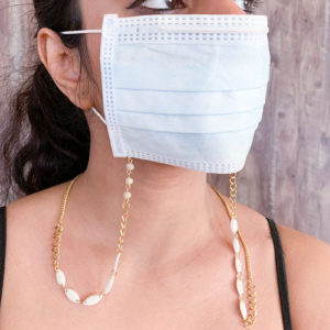 Snow White Gold Plated Mask Chain