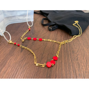 Red Bead Mask Chain